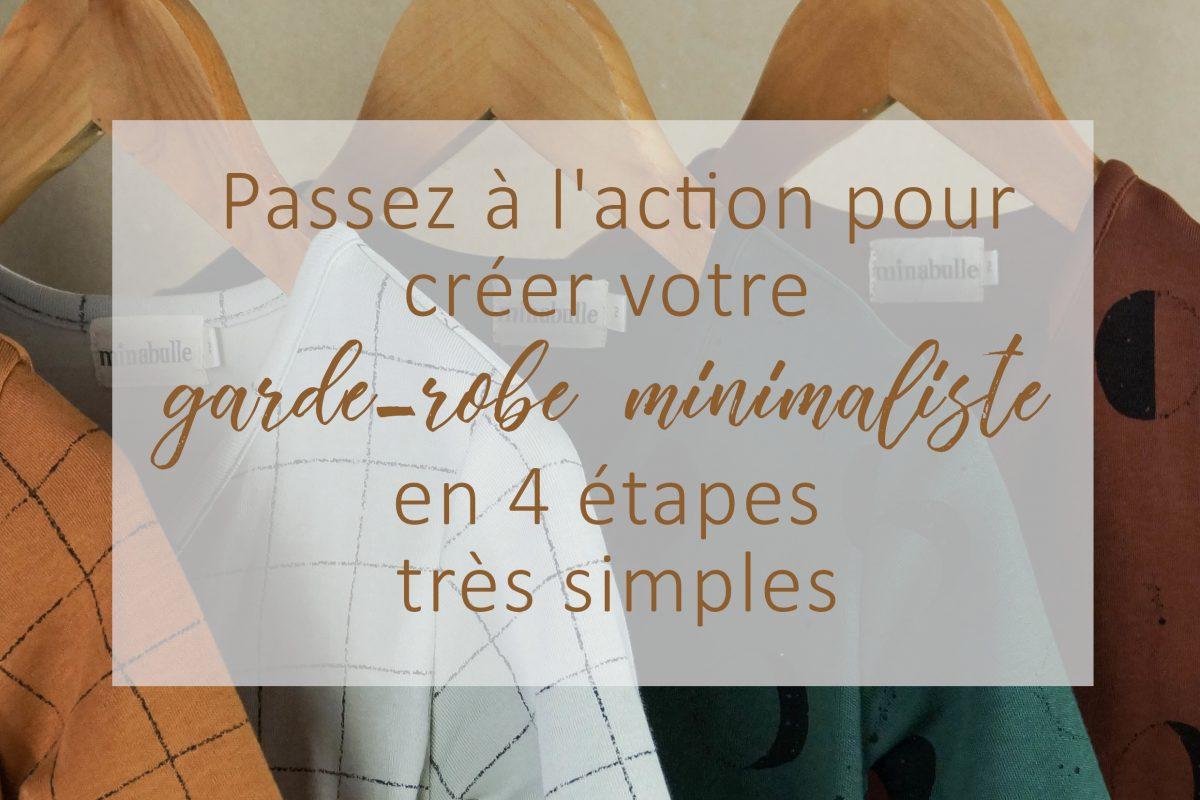 créer garde-robe minimaliste en 4 étapes