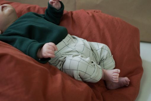pantalon legging unisexe gris Minabulle coton bio