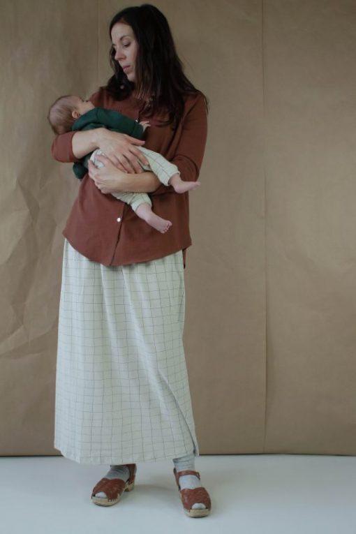 matchy-matchy mère enfant legging unisexe gris Minabulle coton bio