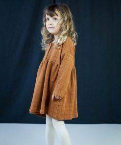robe carreaux cannelle bio Minabulle