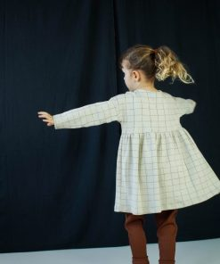 legging jersey côtelé coton bio sienne robe carreaux Minabulle