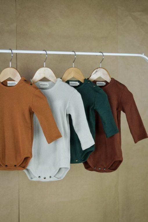body jersey côtelé unisexe coton bio Minabulle