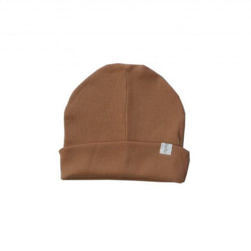 bonnet loose jersey côtelé bio cannelle Minabulle