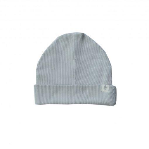 bonnet loose jersey côtelé bio gris Minabulle