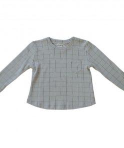 tshirt manches longues carreaux gris bio Minabulle