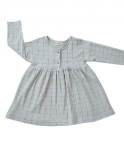 robe carreaux gris bio Minabulle