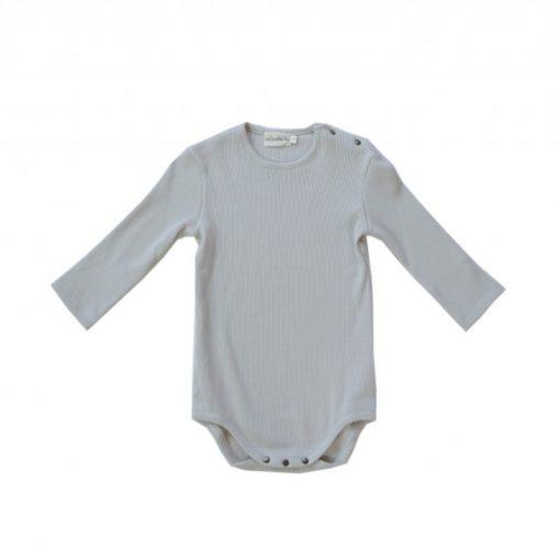 body jersey côtelé gris coton bio Minabulle