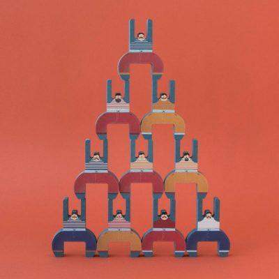 jeu équilibre en bois acrobates londji