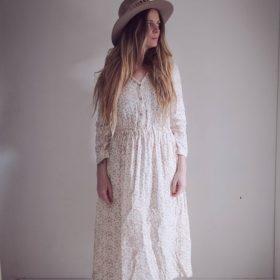 robe NINON – imprimé feuilles