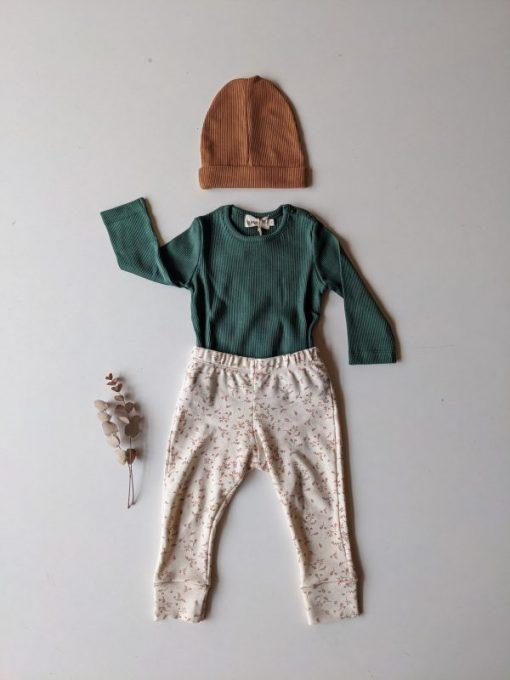tenue bébé unisexe imprimé feuilles