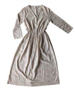 robe imprimé feuilles cannelle