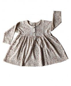 robe enfant loose imprimé feuilles