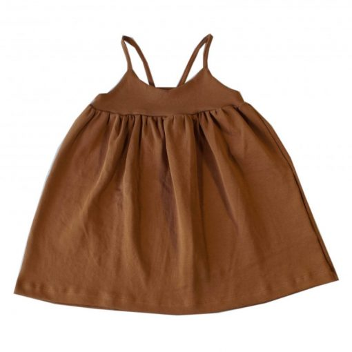 robe à fines bretelles enfant cannelle