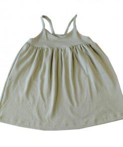 robe fines bretelles enfant kaki clair