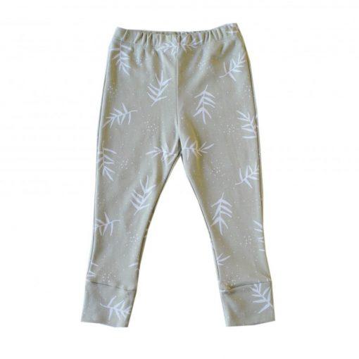 pantalon legging enfant imprimé feuilles