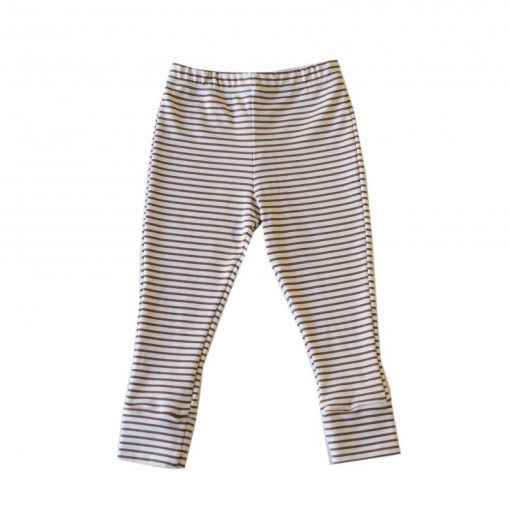 pantalon legging rayures cannelle Minabulle