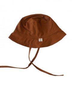 chapeau de soleil coton bio cannelle