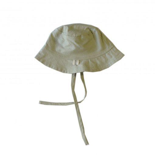 chapeau de soleil enfant en coton bio kaki clair
