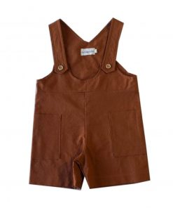 salopette short enfant cannelle