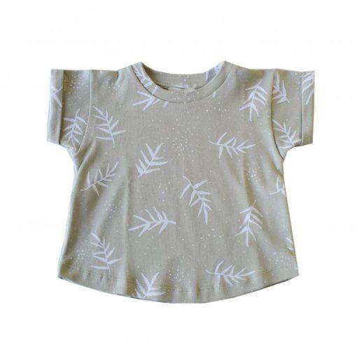 tshirt enfant imprimé feuilles