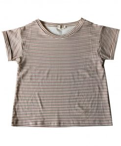 t-shirt femme rayures cannelle Minabulle
