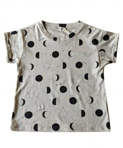 t-shirt femme imprimé lunes Minabulle